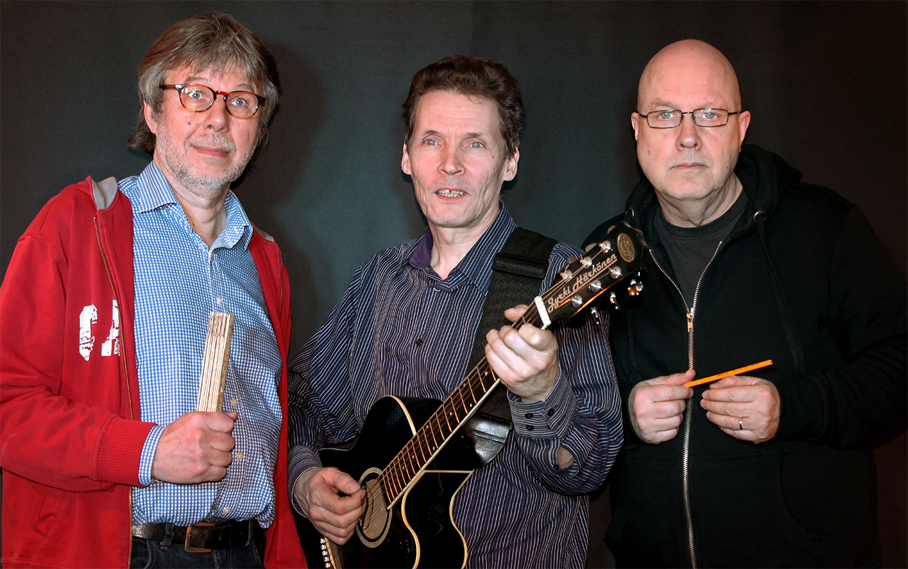 Vasemmalta oikealle: Arto, Jyrki ja Eki